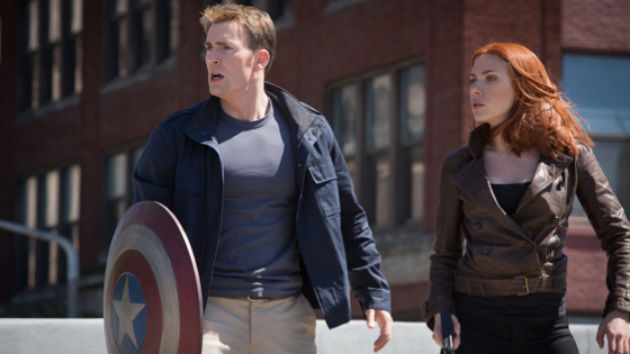 Chris Evans and Scarlett Johansson as Captain America and Black Widow. Image from Marvel Studios.