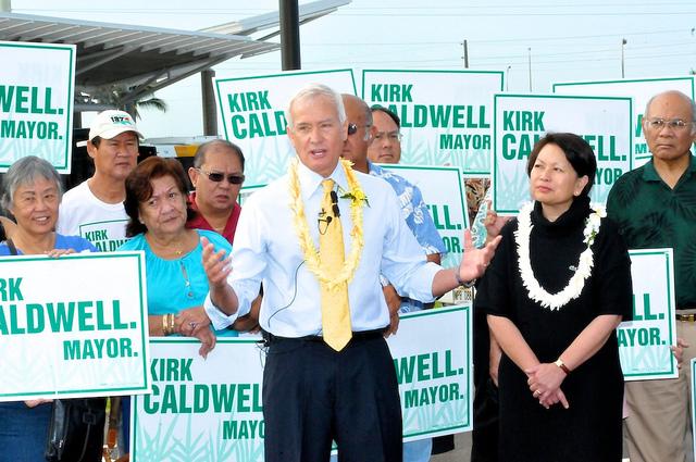 Mayor Kirk Caldwell, Honolulu, HI.  © Ed Morita 2012