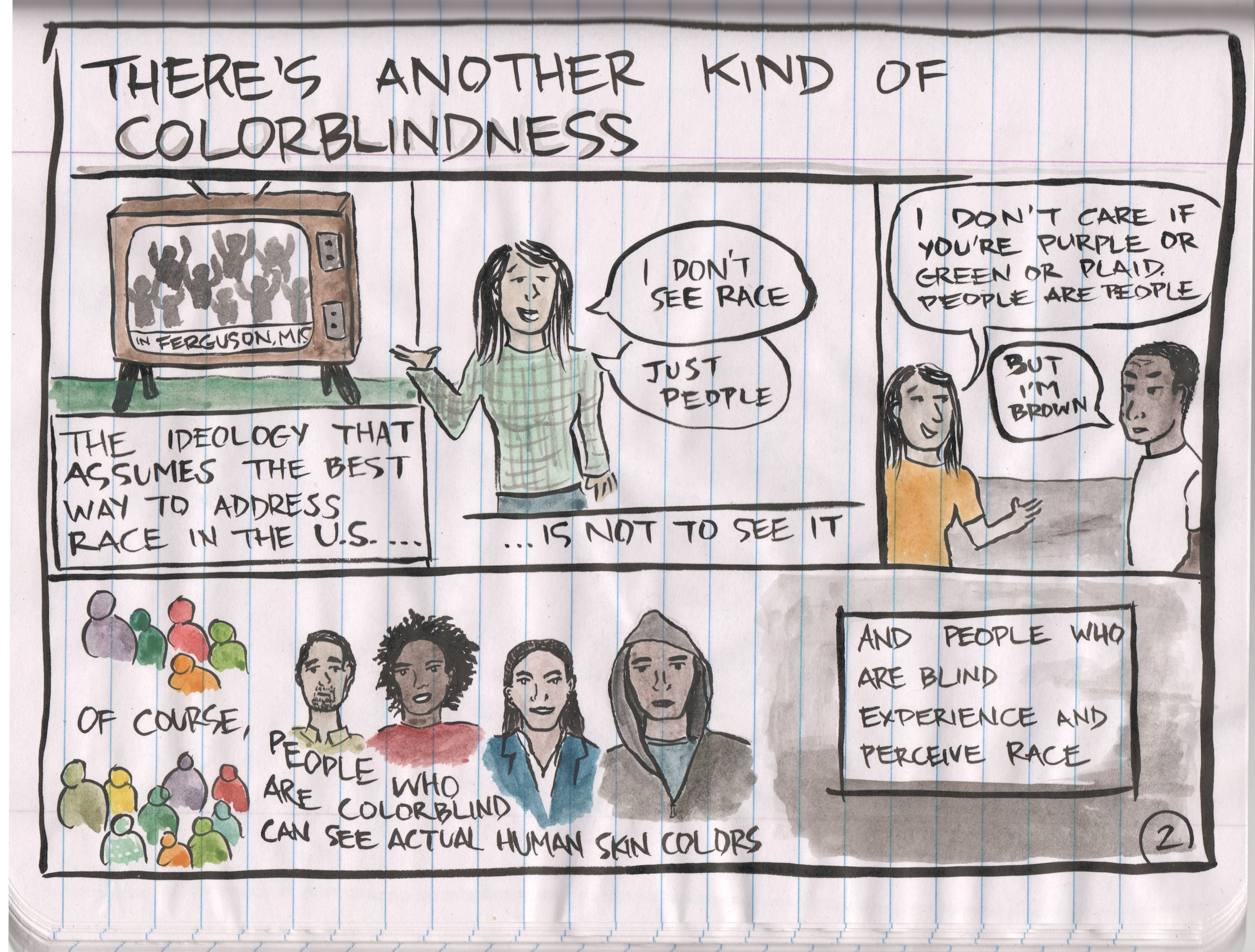 colorblind racism Colorblindness vs race-consciousness  the tea partiers don't show any significant break from the color-blind and coded racism that i also found in.